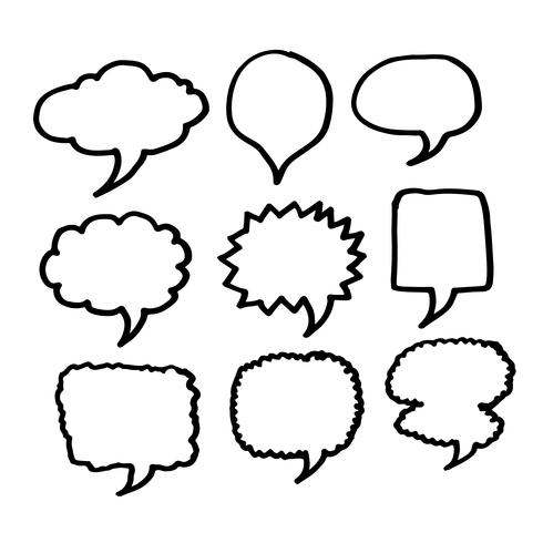 Bulle de dialogue icône dessinée à la main