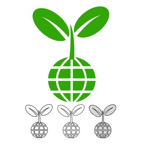Pflanze Baum Symbol Vektor