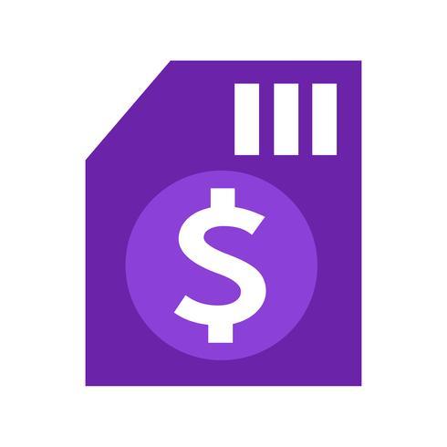 Ícone de dinheiro de cifrão