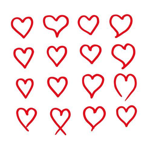 disegnare a mano disegno di icona del cuore