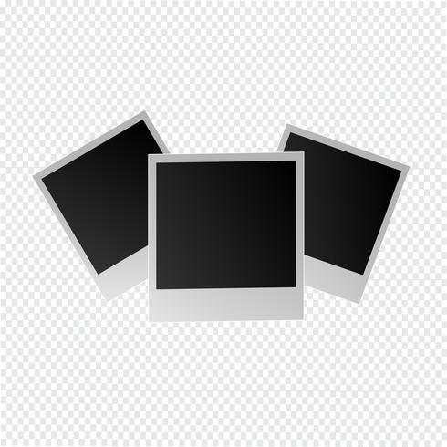 fotolijst op een transparante achtergrond