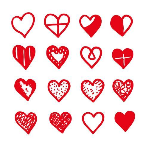 desenho de ícone de coração desenhar de mão