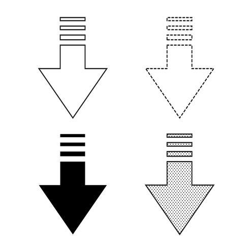 Vetor de ícone de seta