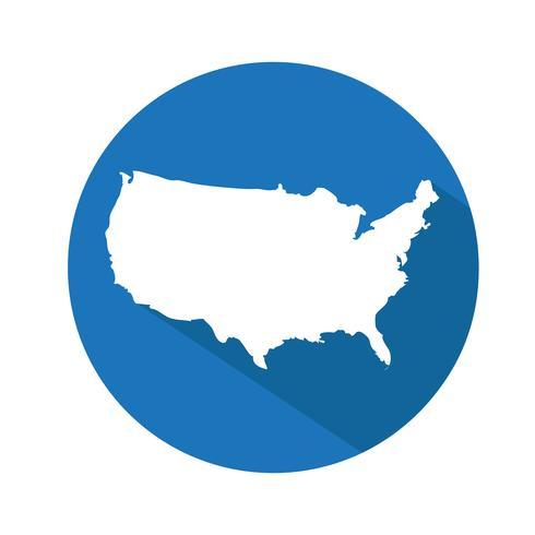 Icône de carte USA