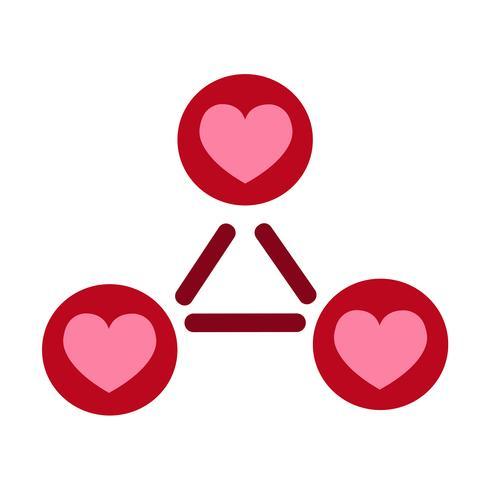 Icono del vector del corazón