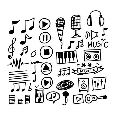 hand teken muziek pictogram