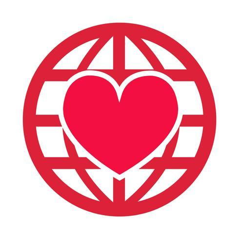 Icona del cuore vettoriale