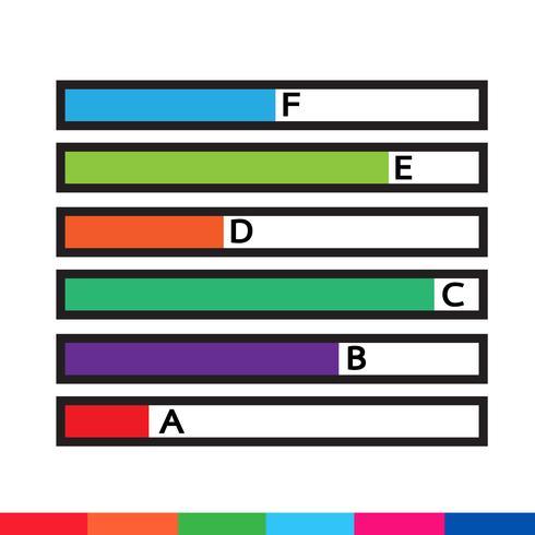 Ikon för företagsdata grafik