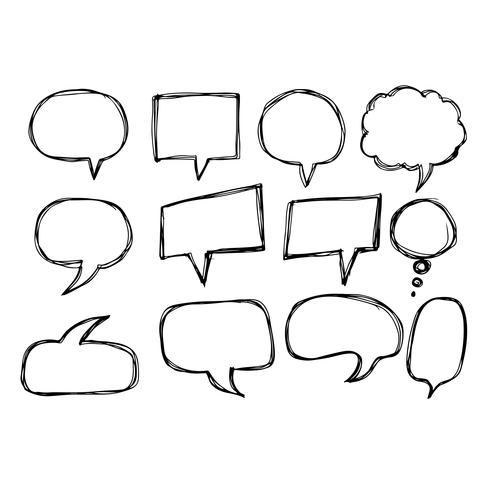 Dibujado a mano icono burbuja del discurso