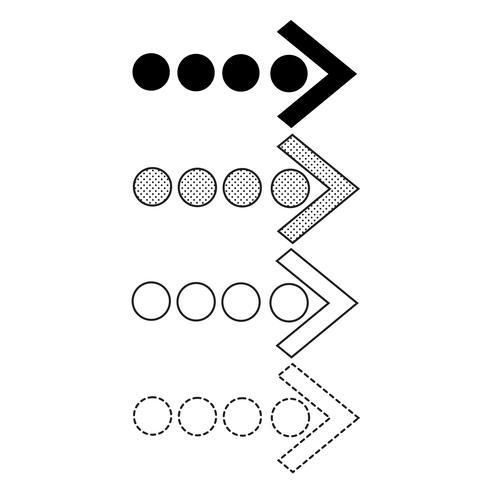 Icono de flecha vector