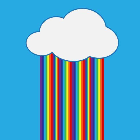 arcobaleno con icona nuvola