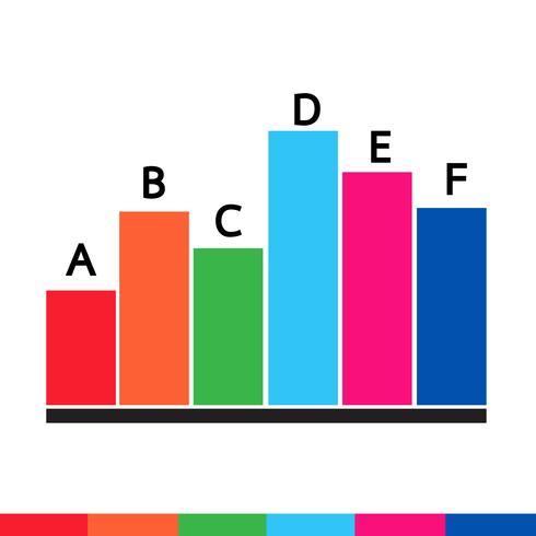 Icône de graphique de données commerciales