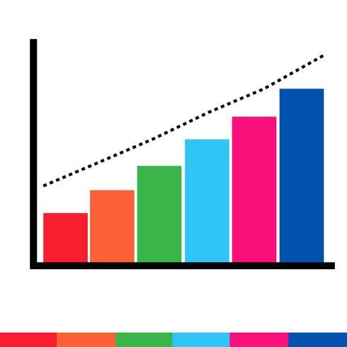 Icona del grafico di dati aziendali