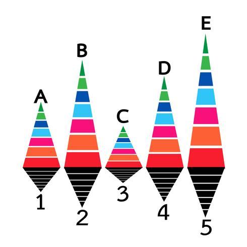 Business data graph icon