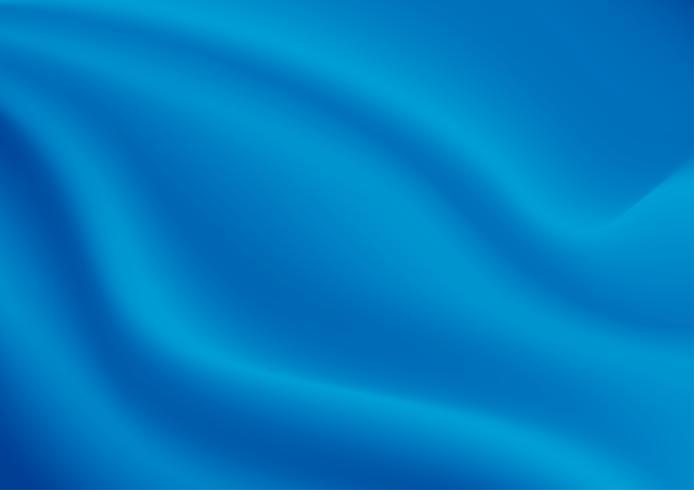 Textura abstrata de fundo. BlueSatin Silk. Tecido de tecido têxtil com dobras onduladas. Ilustração vetorial