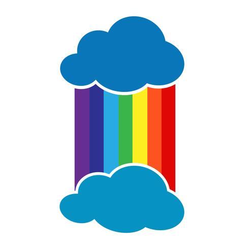 regenboog met wolk pictogram