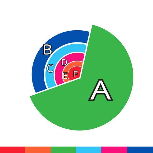 Icono de gráfico de datos de negocios