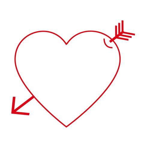 Hart vector pictogram