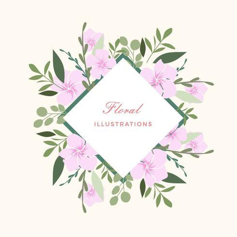 Abstract Vector Flower Illustration