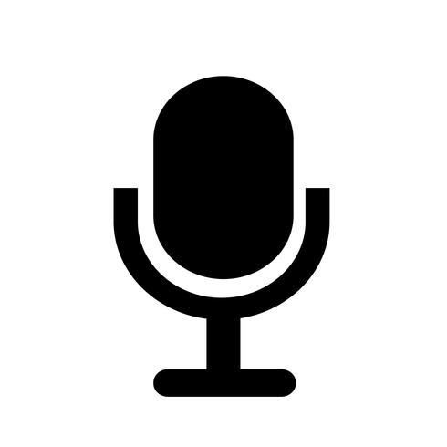 Sign of microphone icon