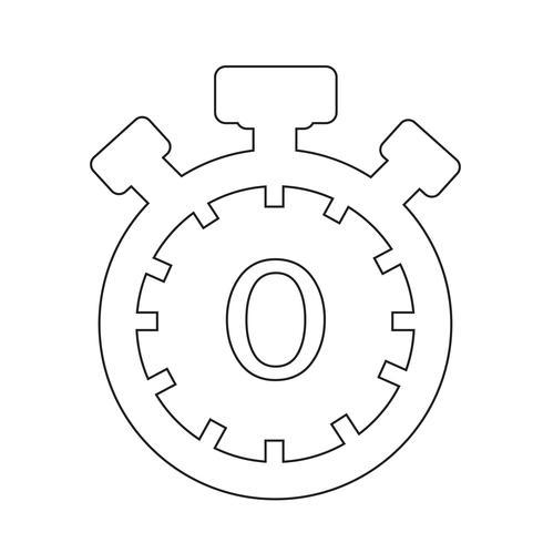 Segno dell'icona del cronometro
