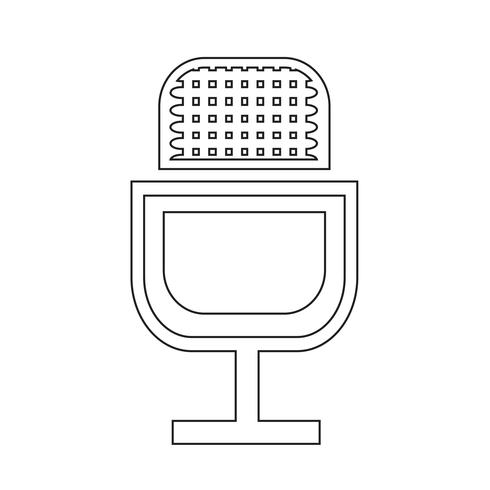 Icono de signo de micrófono vector
