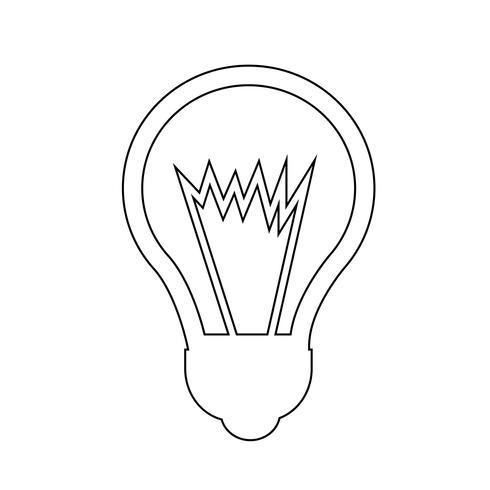Icono de signo de la bombilla