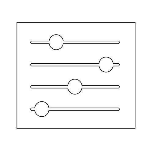 Teken van controle pictogram