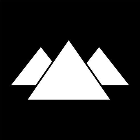 Teken van berg pictogram