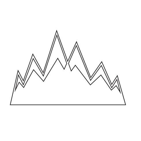 Sign of mountain icon vector