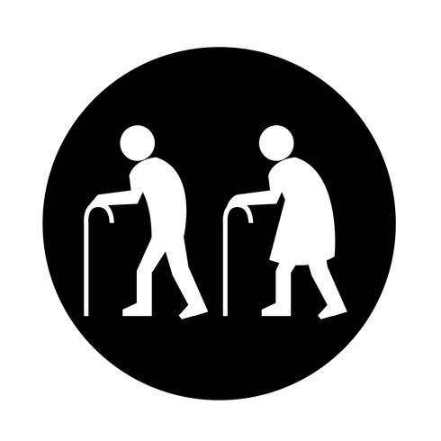 Oudere mensen pictogram