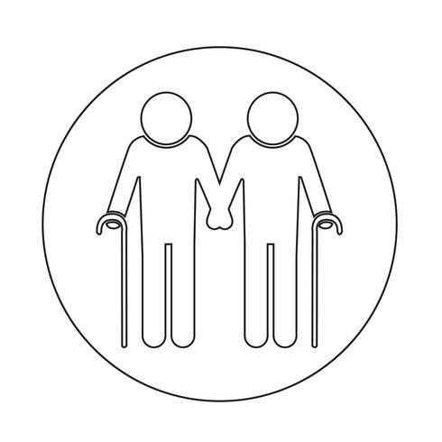 Ältere Menschen-Symbol