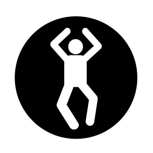 Icono de la acción humana vector