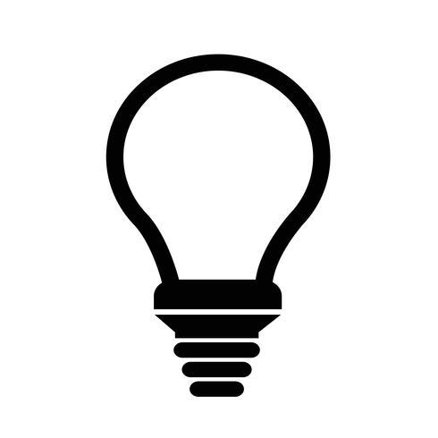 Teken van het pictogram van de lamp