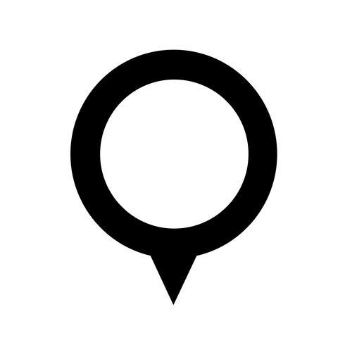 carte gps pointeur icône vecteur