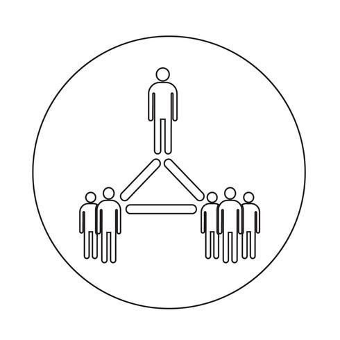 ícone de rede de pessoas vetor