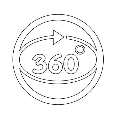 Ícone de 360 graus