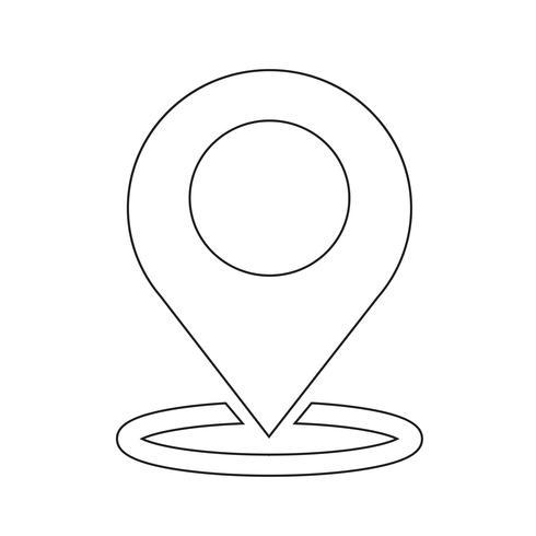 kaart aanwijzer gps pictogram