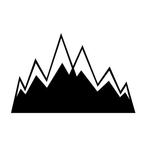 Signe de l'icône de la montagne