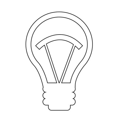 Sign of Bulb icon vector
