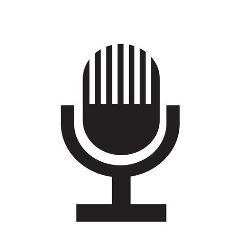 Segno dell'icona del microfono