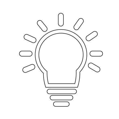 Icône de signe d'ampoule