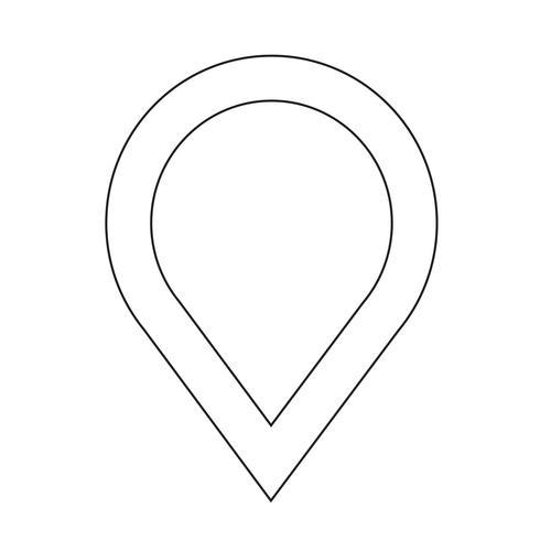 icono de mapa puntero gps