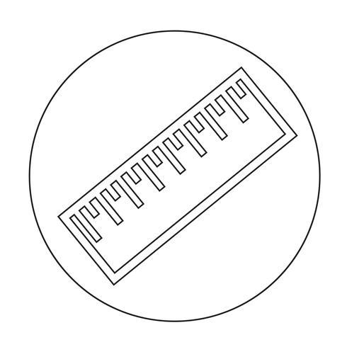 Zeichen des Lineal-Symbols