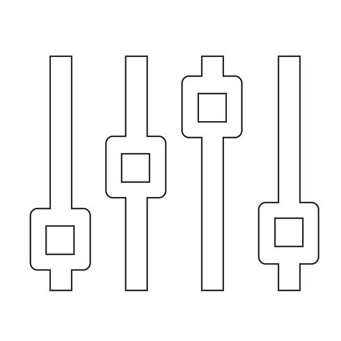 Icône de signe de contrôle