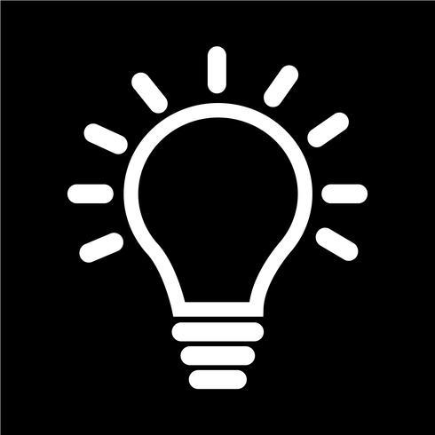Segno dell'icona della lampadina