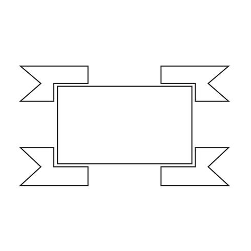 Sign of ribbon icon