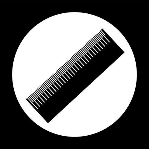 Segno dell'icona del righello