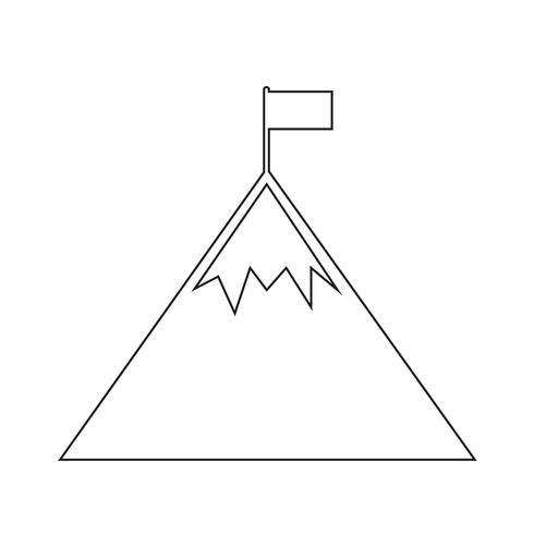 Icono de signo de montaña