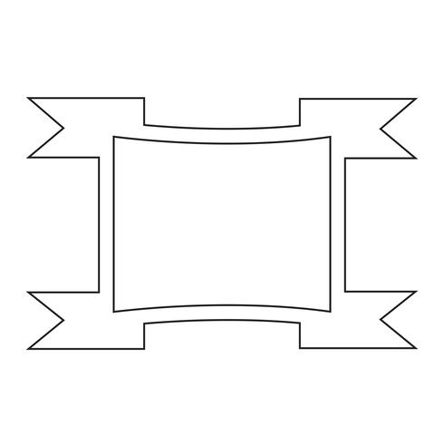 Sign of ribbon icon vector
